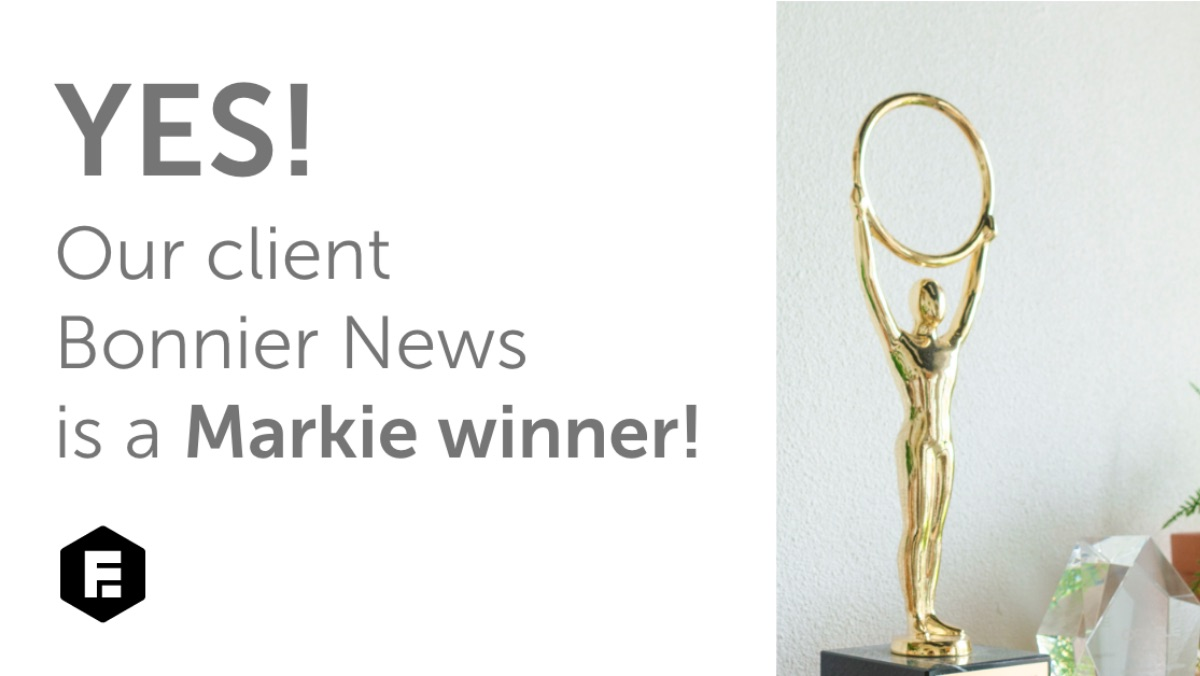 Engagement Factory wins another Markie Award with Bonnier News