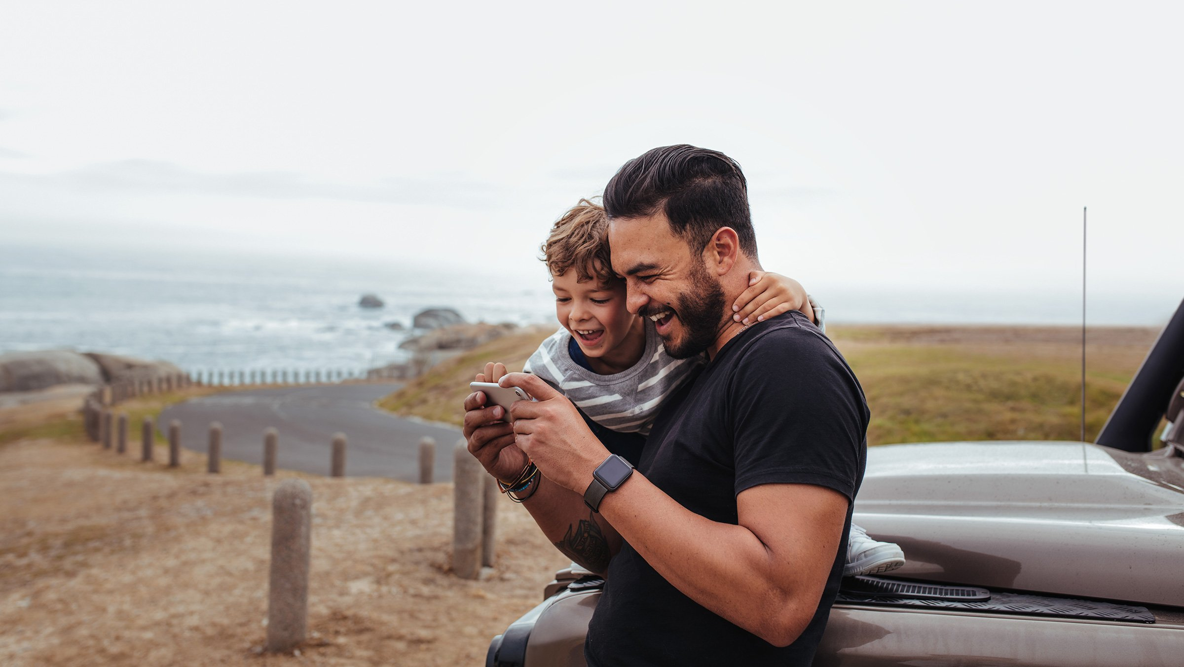 Roadtrip father and son